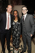 NEW YORK, NEW YORK-JUNE 4: (L-R) Peter W. Kunhardt, Jr., Executive Director, Gordon Parks Foundation Author/Arts Educator Sarah E. Lewis and Philanthropist Alex Soros attends the 2019 Gordon Parks Foundation Awards Dinner and Auction Inside celebrating the Arts & Social Justice held at Cipriani 42nd Street on June 4, 2019 in New York City. (Photo by Terrence Jennings/terrencejennings.com)