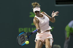 March 22, 2018 - Key Biscayne, Florida, United States Of America - KEY BISCAYNE, FL -MARCH 22: Madison Keys on day 10 of the Miami Open at Crandon Park Tennis Center on March 22, 2018 in Key Biscayne, Florida. ...People:  Madison Keys. (Credit Image: © SMG via ZUMA Wire)