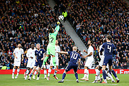 Portugal goalkeeper Beto (22) (Goztepe) punches clear during the Friendly international match between Scotland and Portugal at Hampden Park, Glasgow, United Kingdom on 14 October 2018.