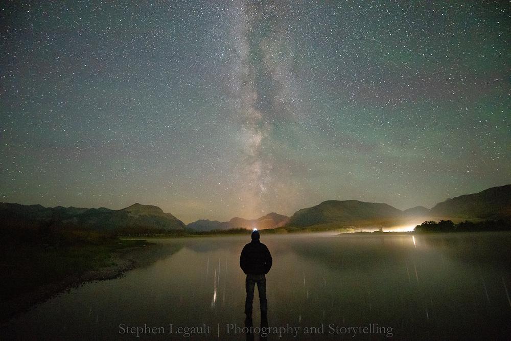 Stars, Self-Portrait, Waterton Lakes National Park