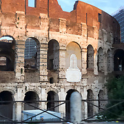 The Colosseum, arguably Rome's most iconic attraction, as seen from a car driving by en route to the airport.