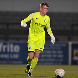 TELFORD COPYRIGHT MIKE SHERIDAN Birmingham keeper Aaron Clayton during the pre-season friendly fixture between AFC Telford United and Birmingham City U23 at the New Bucks Head on Tuesday, September 29, 2020.<br /> <br /> Picture credit: Mike Sheridan/Ultrapress<br /> <br /> MS202021-028