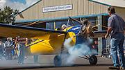 """1931 Buhl LA-1 """"Pup"""" at Wings and Wheels at Oregon Aviation Historical Society."""