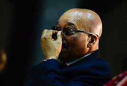 August 8, 2017 - South Africa's parliament debates over a no-confidence motion on President Jacob Zuma, debate is also over the future of the ruling African National Congress. The former liberation movement has led South Africa since the first all-race elections in 1994, but some parliament members warn that the ANC will lose support if Zuma is allowed to stay in office. If the no-confidence motion succeeds, Zuma will have to resign immediately. He has survived such votes in the past, but this is the first to use a secret ballot. The ANC had its worst showing last year in municipal elections as Zuma faced allegations of corruption. FILE IMAGE: April 7, 2016 - Midrand, South Africa - South African President JACOB ZUMA attends the launch of the eChannel Pilot Project of the Department of Home Affairs at Gallagher Convention Centre in Midrand, near Johannesburg. It is his first public appearance after a motion to impeach him, proposed by the opposition, was defeated in parliament on Tuesday in Cape Town. (Credit Image: © Zhai Jianlan/Xinhua via ZUMA Wire)