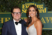 Alan Carr, Melanie Sykes, London Evening Standard Theatre Awards, Theatre Royal Drury Lane, London UK, 03 December 2017, Photo by Richard Goldschmidt