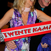 NLD/Noordwijk/20100502 - Gerard Joling 50ste verjaardag, Marga Bult en partner Jan van Ingen en kampioenssjaal FC Twente
