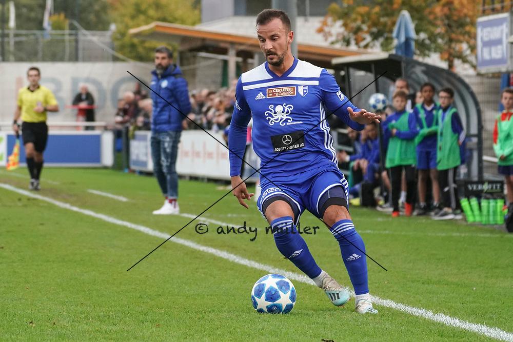 19.10.2019; Wohlen; Fussball 1.Liga - FC Wohlen - Zug 94;<br /> Vilson Doda (Wohlen) <br /> (Andy Mueller/freshfocus)