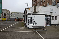 © Licensed to London News Pictures 10/01/2021.         Greenwich, UK. The Chef House Kitchen cafe in Greenwich, South East London where Metropolitan  police officers were allegedly seen breaking Coronavirus lockdown rules is closed today. Photo credit:Grant Falvey/LNP