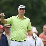 Justin Hicks in action during the second round of theThe Barclays Golf Tournament at The Ridgewood Country Club, Paramus, New Jersey, USA. 22nd August 2014. Photo Tim Clayton