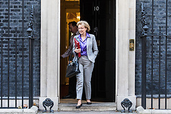 © Licensed to London News Pictures. 28/11/2017. London, UK. Leader of the House of Commons Andrea Leadsom leaves 10 Downing Street after the weekly Cabinet meeting. Photo credit: Rob Pinney/LNP