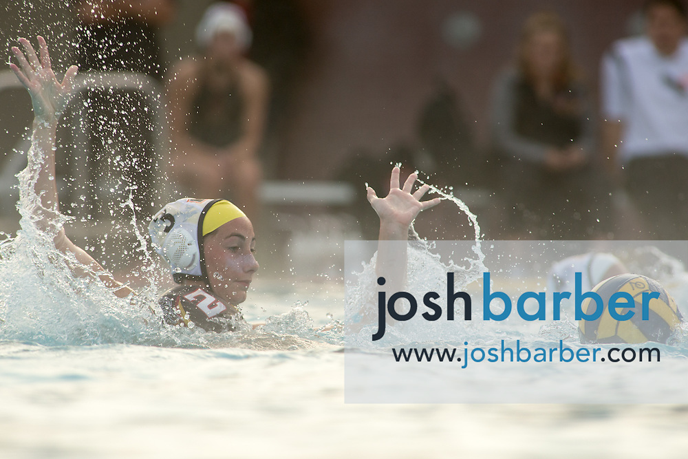 during nonleauge girls water polo at Ocean View High School on Wednesday, Dec. 9, 2015 in Huntington Beach, California. (Photo/Josh Barber)