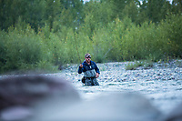 Fly fishing North Fork Flathead River, Montana.