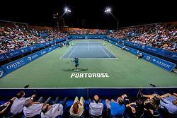 Blaz Rola and Aljaz Bedene of Slovenia after playing Singles semifinal match during Day 9 of ATP Challenger Zavarovalnica Sava Slovenia Open 2019, on August 17, 2019 in Sports centre, Portoroz/Portorose, Slovenia. Photo by Vid Ponikvar / Sportida