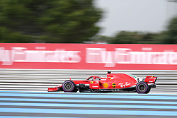 June 23, 2018 - Le Castellet, Var, France - Ferrari 5 Driver SEBASTIAN VETTEL (GER) in action during the Formula one French Grand Prix at the Paul Ricard circuit at Le Castellet - France (Credit Image: © Pierre Stevenin via ZUMA Wire)
