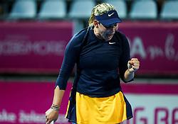 PORTOROZ, SLOVENIA - SEPTEMBER 13: Donna Vekic  of Croatia reacts during the 1st Round of WTA 250 Zavarovalnica Sava Portoroz at SRC Marina, on September 13, 2021 in Portoroz / Portorose, Slovenia. Photo by Vid Ponikvar / Sportida