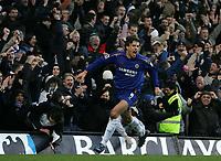 Photo: Lee Earle.<br /> Chelsea v Fulham. The Barclays Premiership. 26/12/2005. Chelsea's Hernan Crespo celebrates scoring their third.