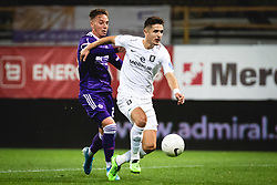 during football match between NK Maribor and Olimpija in 6th Round of Prva liga Telekom Slovenije 2020/21, on October 4, 2020 in Ljudski Vrt, Maribor, Slovenia. Photo by Blaž Weindorfer / Sportida