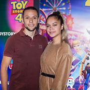 NLD/Utrecht/20190622 - Filmpremiere Toy Story 4, Brigit Kunstt en partner Maurice Namek