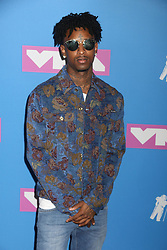 August 20, 2018 - New York City, New York, U.S. - 21 SAVAGE  attends the arrivals for the 2018 MTV 'VMAS' held at Radio City Music Hall. (Credit Image: © Nancy Kaszerman via ZUMA Wire)