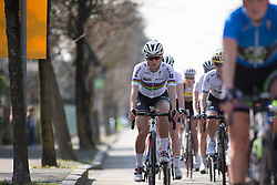 Lizzie Armitstead (Boels-Dolmans Cycling Team) rides mid-pack in the early part of the Trofeo Alfredo Binda - a 123.3km road race from Gavirate to Cittiglio on March 20, 2016 in Varese, Italy.