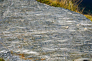 slate rock formation Konigsleiten mountain top. Zillertal, Tyrol, Austria