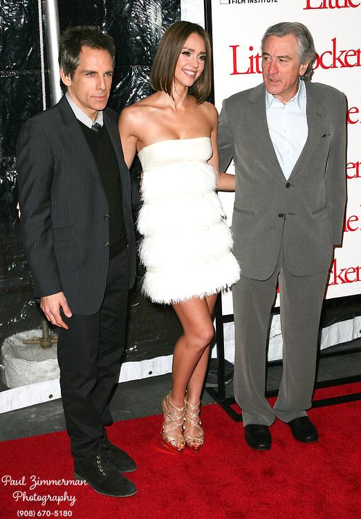 15 December 2010 - New York, NY -  Ben Stiller, Jessica Alba and Robert DeNiro.  The world premiere of 'Little Fockers' at Ziegfeld Theatre on December 15, 2010 in New York City. Photo Credit: Paul Zimmerman/AdMedia