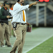 Miami Head Coach Al Golden is seen during the NCAA Football Russell Athletic Bowl football game between the Louisville Cardinals and the Miami Hurricanes, at the Florida Citrus Bowl on Saturday, December 28, 2013 in Orlando, Florida. (AP Photo/Alex Menendez)