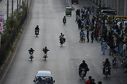 June 7, 2017 - Rawalpindi, Punjab, Pakistan - Youth ride on one-wheel motorcycle doing dangerous stunt  at Murree road in Rawalpindi. (Credit Image: © Zubair Abbasi/Pacific Press via ZUMA Wire)