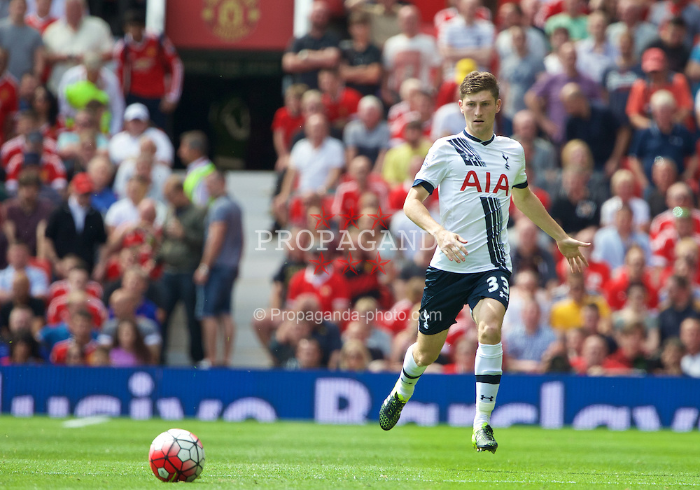 MANCHESTER, ENGLAND - Saturday, August 8, 2015: Tottenham Hotspur's Ben Davies in action against Manchester United during the Premier League match at Old Trafford. (Pic by David Rawcliffe/Propaganda)