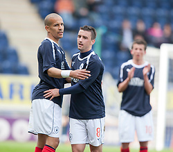 Falkirk's Mark Millar substituted near the end of the game..Falkirk's Football Club's last game of season 2011-2012..Falkirk 3 v 2 Ayr United, 5/5/2012..©Michael Schofield..