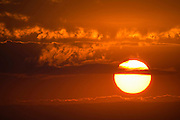The sun in its full glory just over the horizon