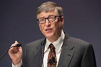 """27 JAN 2015, BERLIN/GERMANY:<br /> Bill Gates (William Henry Gates III),  Mitgruender und  Chairman of the Board der Microsoft Corporation und Mitgruender der  Bill & Melinda Gates Foundation, haelt eine Rede waehrend der Gavi Pledging Conference """"Reach Every Child"""", Berlin Congress Center<br /> IMAGE: 20150127-01-071<br /> KEYWORDS: Gavi Impfallianz"""