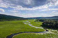 Mamakating, New York - Aerial views of the Bashakill Wildlife Management Areal on June 6, 2016.