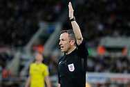 Referee Keith Stroud during the EFL Sky Bet Championship match between Newcastle United and Burton Albion at St. James's Park, Newcastle, England on 5 April 2017. Photo by Richard Holmes.