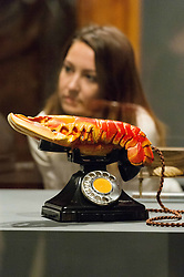 October 3, 2017 - London, London, UK - London, UK. Sculpture titled Lobster Telephone, 1938, by  Salvador Dali is showing as part of the Dali/Duchamp exhibition showing at the Royal Academy. (Credit Image: © Ray Tang/London News Pictures via ZUMA Wire)