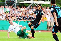 Fotball, 3. august 2013 , Football DFB Cup 1 Round SG  Vegesack 1899 Hoffenheim square 11 in Bremen Nile Goecke Vegesack left Tarik Elyounoussi Hoffenheim<br /> Norway only