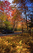 PA State Park Sign, Fall Foliage, Promised Land State Park, Pike County