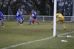 BANGOR, WALES - Tuesday, November 20, 2018: Wales' Jack Vale shoots at goal during the UEFA Under-19 Championship 2019 Qualifying Group 4 match between Wales and San Marino at the Nantporth Stadium. (Pic by Paul Greenwood/Propaganda)
