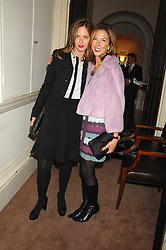 Left to right, TRINNY WOODALL and HEATHER KERZNER at a party to celebrate the publication of Top Tips For Girls by Kate Reardon held at Claridge's, Brook Street, London on 28th January 2008.<br />