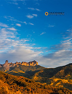 Courthouse Mountain in the Uncompahgre National Forest, Colorado, USA
