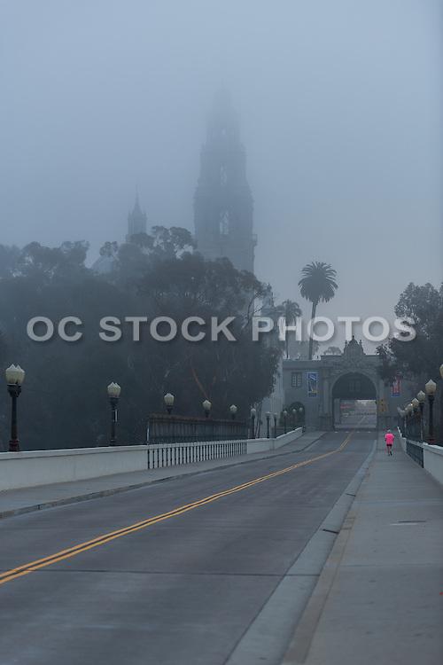 Running Through Balboa Park in San Diego California