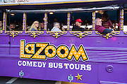 LaZoom comedy bus tour in Asheville, North Carolina.