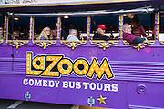 LaZoom comedy bus tour in Asheville, North Carolina.