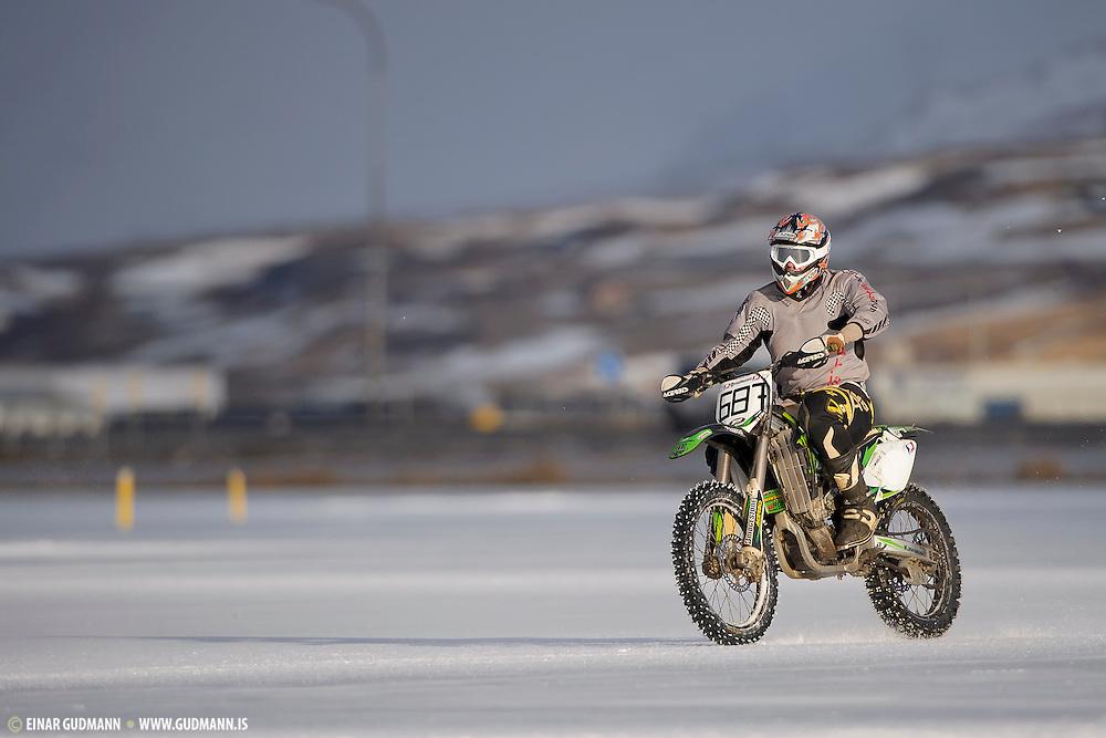 Winter sports in Iceland. Icecross Akureyri.
