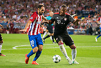Atletico de Madrid's player Juanfran Torres and Bayern Munich's player Jerome Boateng during match of UEFA Champions League at Vicente Calderon Stadium in Madrid. September 28, Spain. 2016. (ALTERPHOTOS/BorjaB.Hojas)