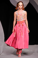 Adina Fohlin walks the runway  at the Christian Dior Cruise Collection 2008 Fashion Show