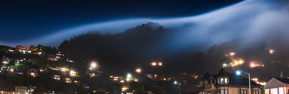 Moonlit Night over Sausalito, CA.