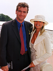 MR & MRS NICHOLAS HURD he is the son of Douglas Hird the former Conservative Foreign Secretary, at a race meeting in West Sussex on 30th July 1999.MUP 14