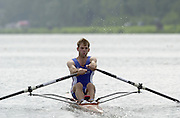 2002 FISA World Cup. Hazewinkel. BEL.       Friday  14/06/2002     .email images@Intersport-images.com.[Mandatory Credit: Peter Spurrier/Intersport Images]  .                                 /06/2002.Rowing. ..GBR2 LM1X Hugh Mackworth-Praed Rowing, FISA WC.Hazenwinkel, BEL