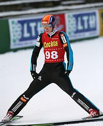 Jurij Tepes of SD Dolomiti at Slovenian National Championship in Ski Jumping on February 12, 2008 in Kranj, Slovenia . (Photo by Vid Ponikvar / Sportal Images).